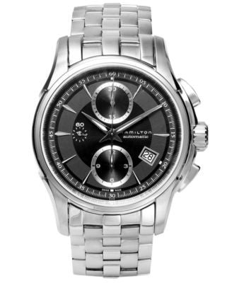 Hamilton Watch, Men's Swiss Automatic Chronograph Jazzmaster Stainless Steel Bracelet 42mm H32616133