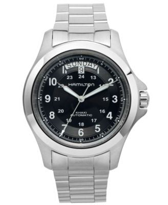 Hamilton Watch, Men's Swiss Automatic Khaki King Stainless Steel Bracelet 40mm H64455133
