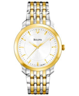 Bulova Women's Two-Tone Stainless Steel Bracelet Watch 32mm 98L160