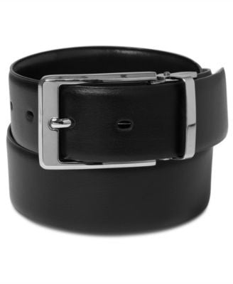 Perry Ellis Men's Leather Big and Tall Reversible Belt
