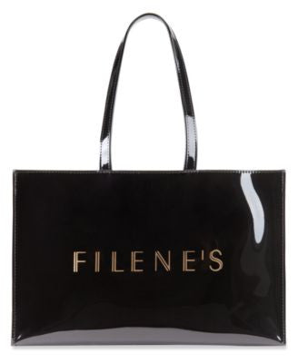Filene's Large Open Tote with Logo