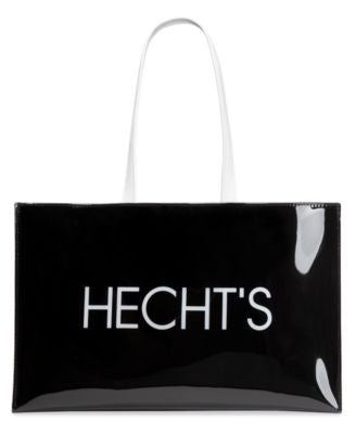 Hecht's Large Open Tote with Logo