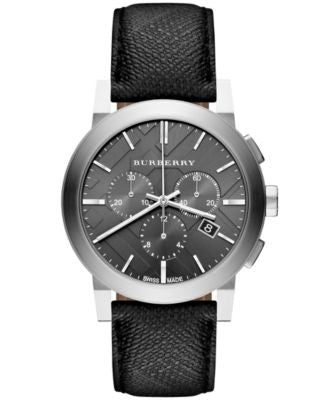 Burberry Watch, Men's Swiss Chronograph Beat Check Fabric Strap 42mm BU9362