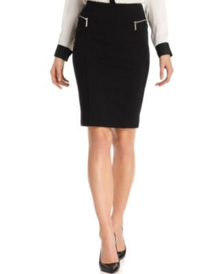 MICHAEL Michael Kors Zipper-Pocket Pencil Skirt