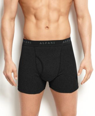 Alfani Men's Underwear, Tagless Black Boxer Brief 4 Pack
