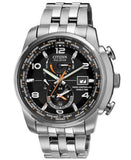 Citizen Men's Eco-Drive World Time A-T Stainless Steel Bracelet Watch 43mm AT9010-52E
