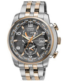 Citizen Men's Eco-Drive World Time A-T Two-Tone Stainless Steel Bracelet Watch 43mm AT9016-56H