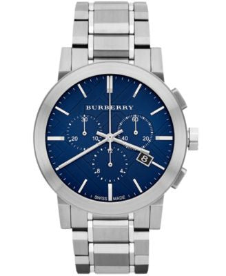 Burberry Watch, Men's Swiss Chronograph Stainless Steel Bracelet 42mm BU9363