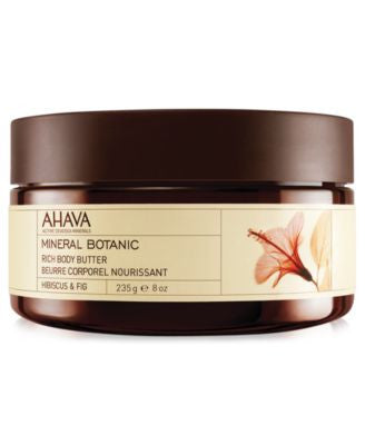 Ahava Hibiscus & Fig Mineral Botanic Rich Body Butter, 8 oz