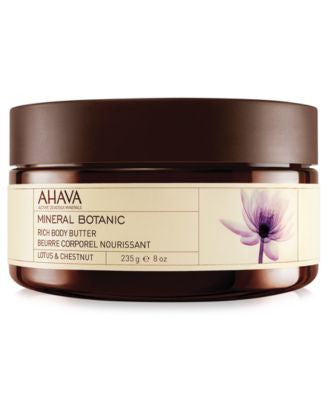 Ahava Lotus & Chestnut Mineral Botanic Rich Body Butter, 8 oz