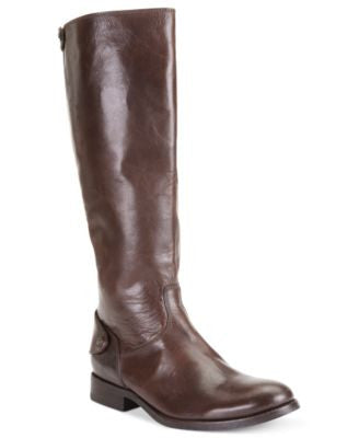 Frye Women's Melissa Button Back Zip Wide Calf Boots