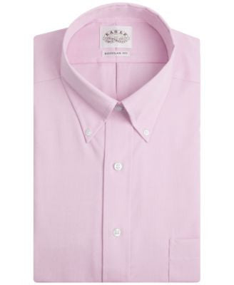 Eagle Men's Classic-Fit Non-Iron Pink Twill Dress Shirt