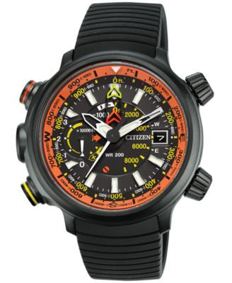 Citizen Men's Chronograph Eco-Drive Promaster Altichron Black Rubber Strap Watch 50mm BN5035-02F