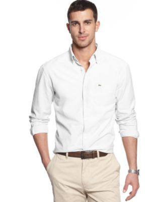 Lacoste Core Solid Button Down Collar Shirt