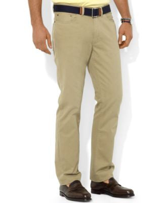 Polo Ralph Lauren Men's Core Pants, Flat Front Straight-Fit 5-Pocket Chino Pants