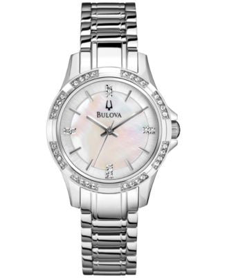 Bulova Women's Stainless Steel Bracelet Watch 30mm 96L191 - A Vogily Exclusive