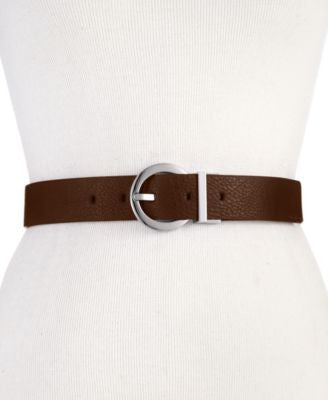 Calvin Klein Reversible Round-Buckle Belt