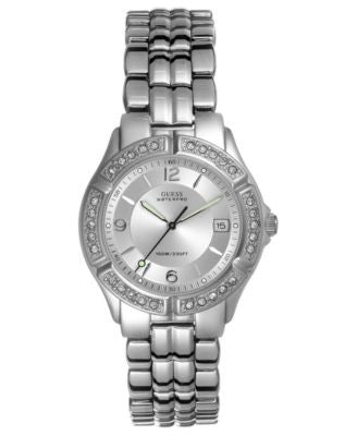 GUESS Watch, Women's Silver-Tone Bracelet G75511M