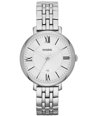 Fossil Women's Jacqueline Stainless Steel Bracelet Watch 36mm ES3433