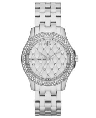 A|X Armani Exchange Watch, Women's Stainless Steel Bracelet 36mm AX5215