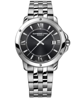 RAYMOND WEIL Watch, Men's Swiss Tango Stainless Steel Bracelet 39mm 5591-ST-00607