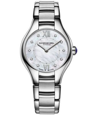 RAYMOND WEIL Watch, Women's Swiss Noemia Diamond Accent Stainless Steel Bracelet 24mm 5124-ST-00985