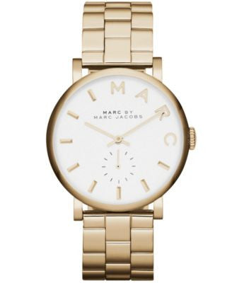 Marc by Marc Jacobs Watch, Women's Baker Gold-Tone Stainless Steel Bracelet 37mm MBM3243