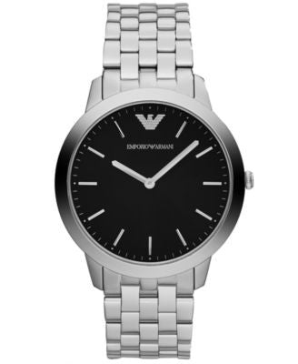 Emporio Armani Watch, Men's Dino Slim Stainless Steel Bracelet 42mm AR1744