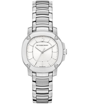 Burberry Watch, Women's Swiss The Britain Stainless Steel Bracelet 34mm BBY1703