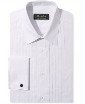 Michelsons of London Slim-Fit Pleated Point French Cuff Tuxedo Shirt