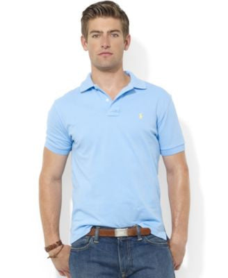 Polo Ralph Lauren Men's Core Polo Shirts, Custom Fit Mesh Polo