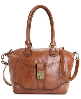 Style & Co. Twistlock Satchel Crossbody, Only at Vogily