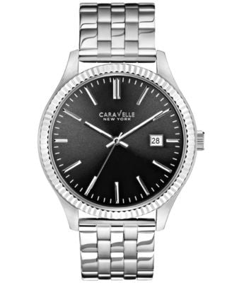 Caravelle New York by Bulova Men's Stainless Steel Bracelet Watch 41mm 43B131