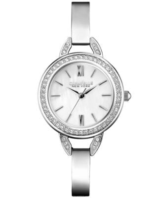 Caravelle New York by Bulova Women's Stainless Steel Bangle Bracelet Watch 28mm 43L166