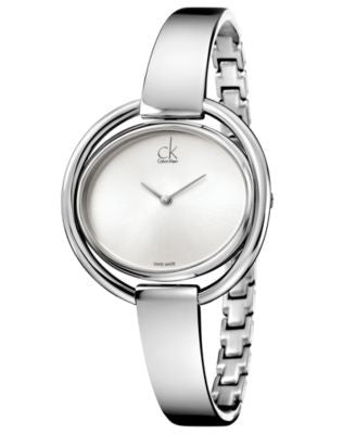 Calvin Klein Women's Swiss Impetuous Stainless Steel Bracelet Watch 40mm K4F2N116