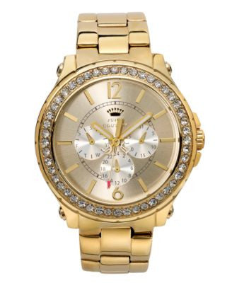Juicy Couture Women's Pedigree Gold-Tone Stainless Steel Bracelet Watch 42mm 1901082