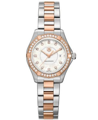TAG Heuer Women's Swiss Aquaracer Lady Diamond (2/5 ct. t.w.) Two-Tone Stainless Steel Bracelet Watc