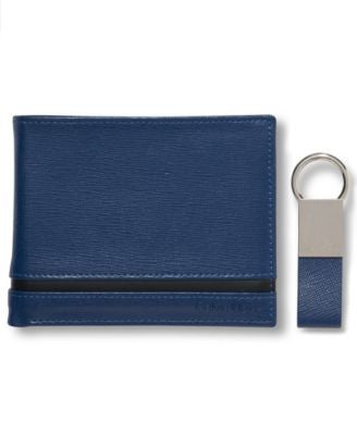 Calvin Klein Saffiano Bifold Wallet with Key Fob