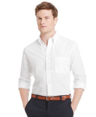 IZOD Big and Tall Essential Solid Long Sleeve Shirt