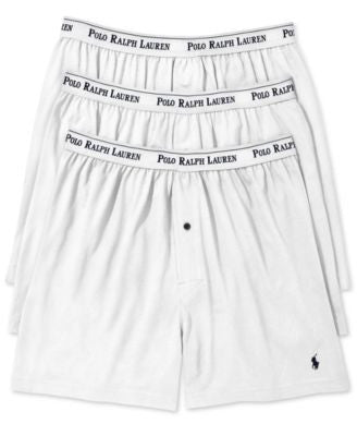Polo Ralph Lauren Men's Underwear, Classic Knit Boxer 3 Pack
