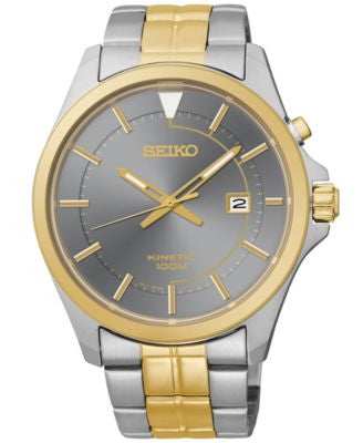 Seiko Men's Kinetic Two-Tone Stainless Steel Bracelet Watch 42mm SKA582