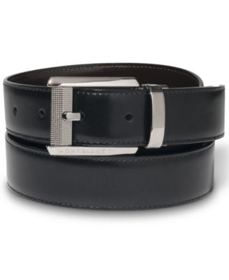 Montblanc Ruthenium-Coated Pin Buckle Reversible Leather Belt 38163