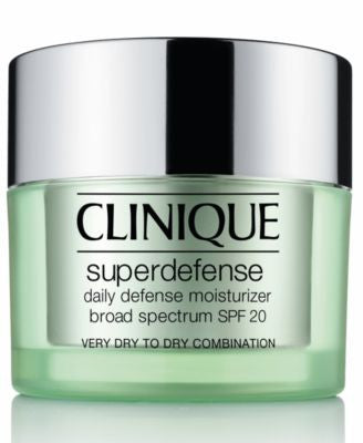 Clinique Superdefense Daily Defense Moisturizer Broad Spectrum SPF 20 Skin Types 1/2