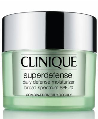 Clinique Superdefense Daily Defense Moisturizer Broad Spectrum SPF 20 Skin Types 3/4