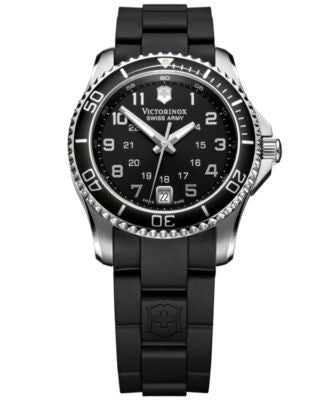 Victorinox Swiss Army Women's Maverick GS Black Rubber Strap Watch 34mm 249067
