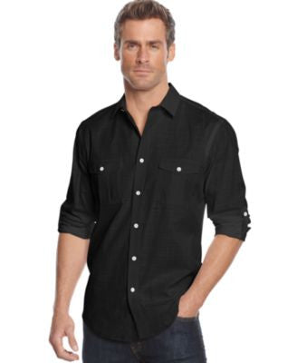 Alfani Men's Big and Tall Long-Sleeve Warren Shirt
