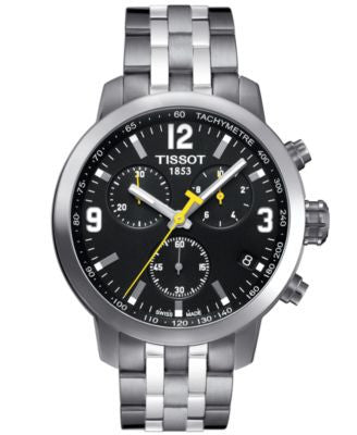 Tissot Men's Swiss Chronograph PRC 200 Stainless Steel Bracelet Watch 42mm T0554171105700