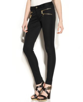 MICHAEL Michael Kors Skinny-Leg Zip-Pocket Pants