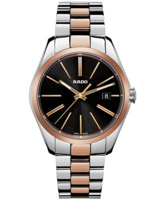 Rado Men's Swiss Hyperchrome Rose Gold-Tone Ceramos® and Stainless Steel Bracelet Watch 39mm R321841