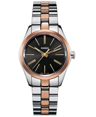 Rado Women's Swiss Hyperchrome Rose Gold-Tone Ceramos® and Stainless Steel Bracelet Watch 31mm R3297